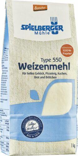 Spielberger Mühle Weizenmehl Type 550, demeter 6x1kg