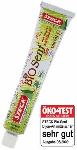 Steck Naturkost Bio Senf, mittelscharf 15x100ml