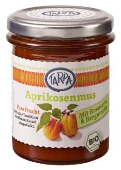 TARPA Aprikosenmus mit Rosmarin/Bergamotte & Akazienhonig 90% 6x210g