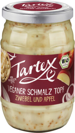 Tartex Veganer Schmalz Topf Zwiebel und Apfel 6x250g