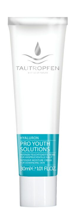 Tautropfen Pro Youth/Hyaluron, Intensiv Feuchtigkeitscreme für anspruchsvolle Haut 30ml