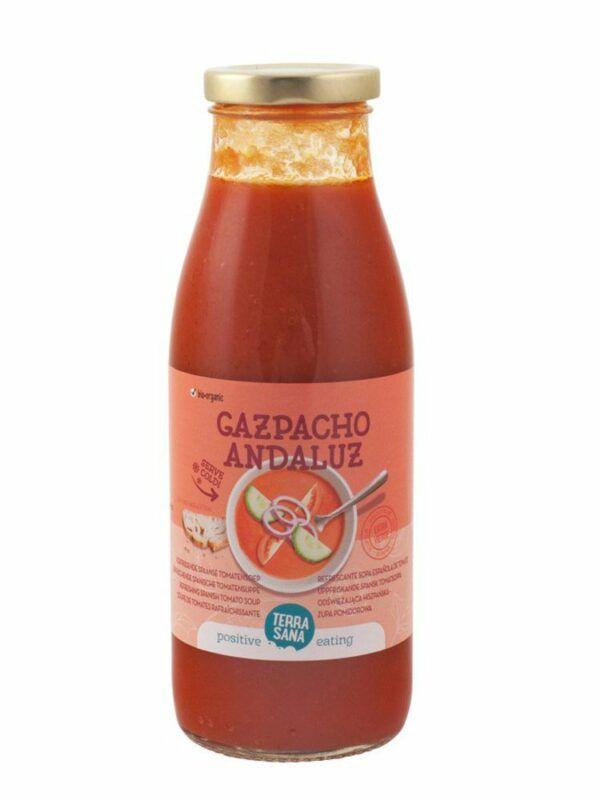 TerraSana Gazpacho Original - erfrischende spanische Tomatensuppe 8x500ml