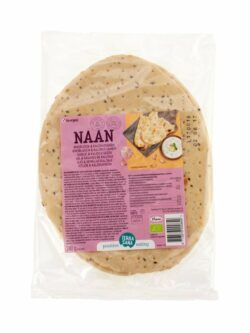 TerraSana Naan Brot mit Knoblauch & Kalonji-samen 6x240g
