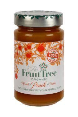 The Fruit Tree FruitTree Pfirsich Bio-Fruchtaufstriche 250g. Fruchtanteil 100%. 6x250g