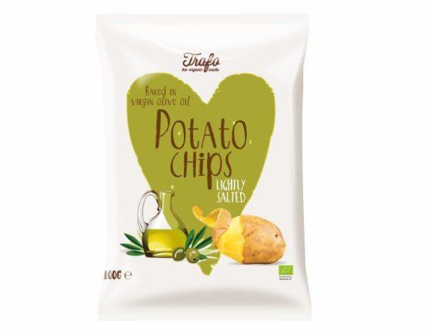 Trafo Chips gebacken in Olivenöl, leicht gesalzen 12x100g