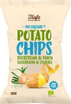 Trafo Kartoffelchips Sourcream & Onion 12x125g