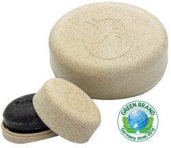 Unicorn ® Seifendose aus Flüssigholz klein, wollweiß 10g