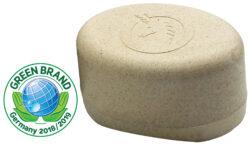 Unicorn ® Seifendose aus Flüssigholz groß, sahneweiß 45g
