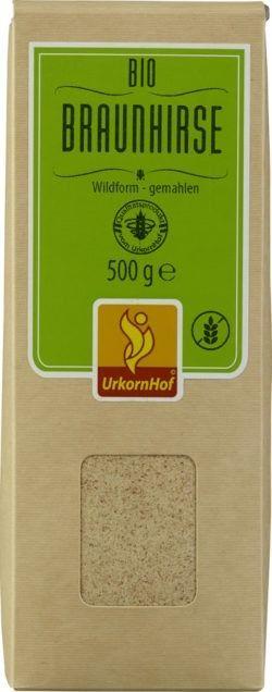 Urkornhof Bio Braunhirse Wildform gemahlen 8x500g