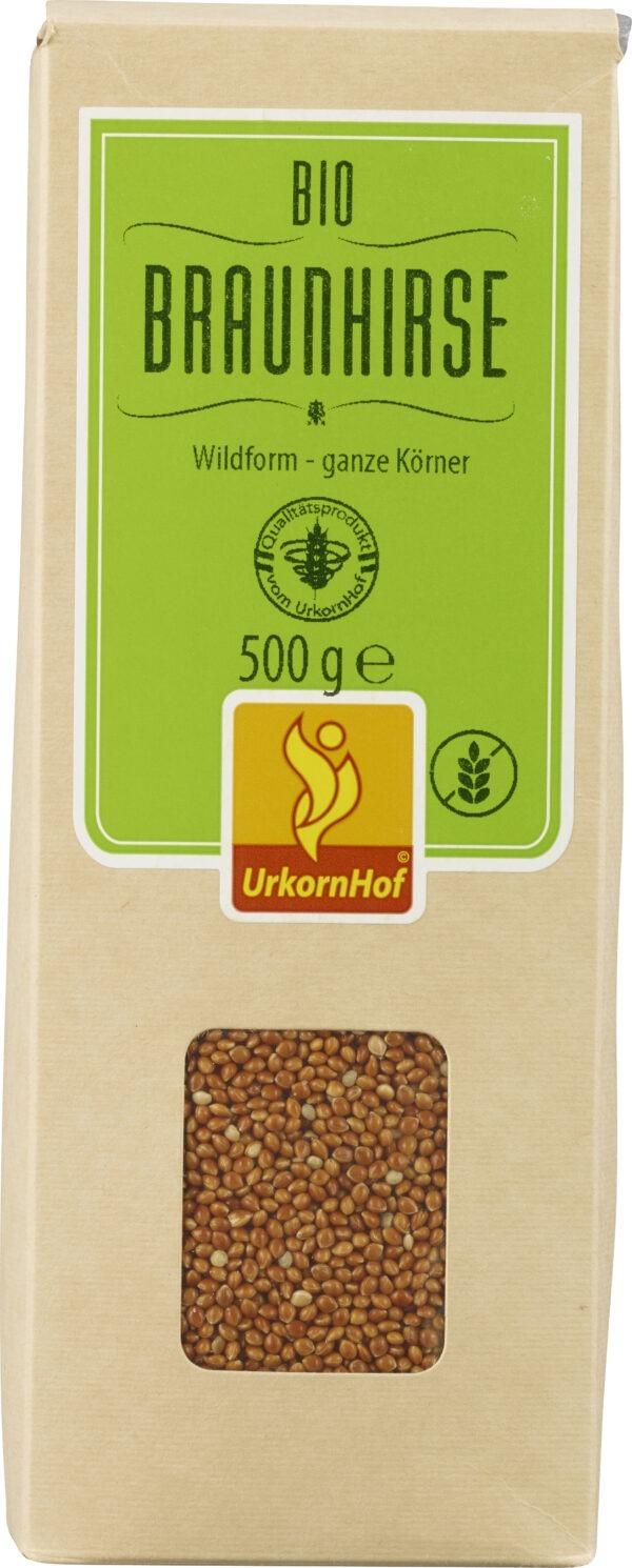 Urkornhof GmbH Bio Braunhirse Wildform ganze Körner 8x500g