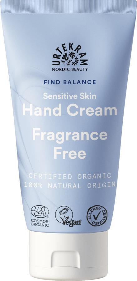 Urtekram Fragrance Free Sensitive Skin Hand Cream 75ml