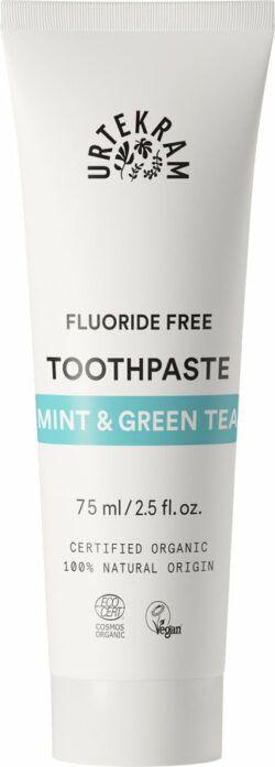 Urtekram Mint & Green Tea Toothpaste Zahnpasta ohne Fluorid 75ml