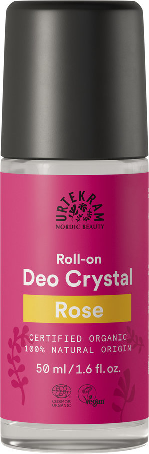 Urtekram Rose Crystal Deodorant Roll-on 50ml