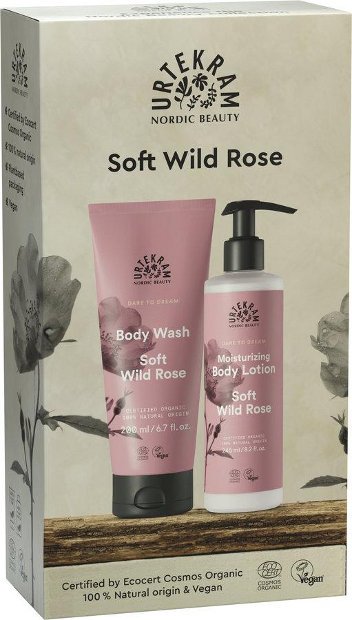 Urtekram Soft Wild Rose Geschenkset Körperpflege 6x1St