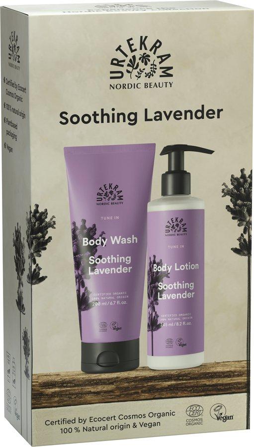 Urtekram Soothing Lavender Geschenkset Körperpflege 6x1St