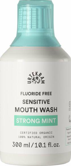 Urtekram Strong Mint Sensitive Mouth Wash Mundspülung ohne Fluorid 300ml