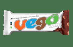 VEGO mini Whole Hazelnut Chocolate Bar 65g BIO/FT 30x65g