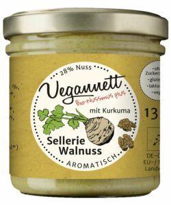 Vegannett Sellerie Walnuss Bioaufstrich mit Kurkuma, vegan 6x135g