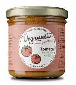 Vegannett Tomate Bioaufstrich mit 28% Cashew- und Erdnussmus 6x135g