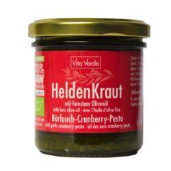 Vita Verde Heldenkraut, Bärlauch-Cranberry-Pesto 6x165ml
