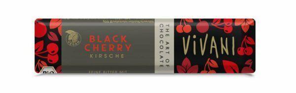 Vivani Black Cherry Schokoriegel 18x35g