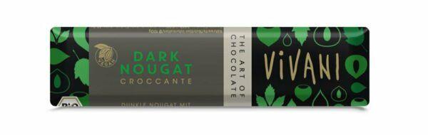 Vivani Dark Nougat Croccante Riegel 35g