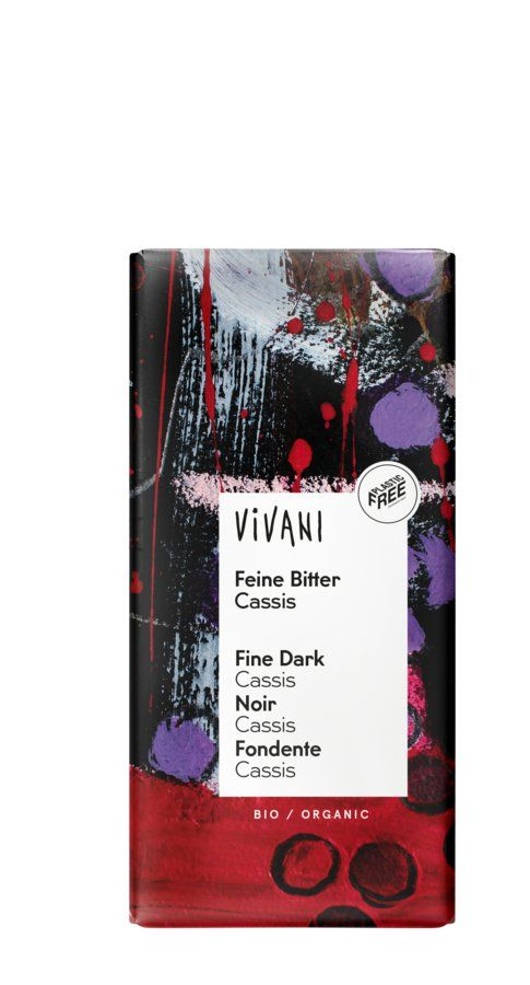 Vivani Feine Bitter Cassis 10x100g