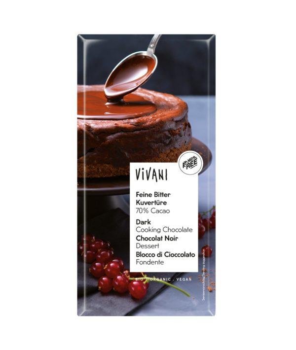 Vivani Feine Bitter Kuvertüre 70% Cacao (200 g-Tafelformat) 10x200g