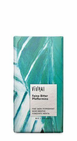 Vivani Feine Bitter Pfefferminz Schokolade 100g
