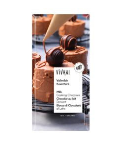 Vivani Vollmilch Kuvertüre (200 g-Tafelformat) 10x200g