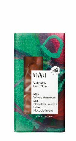 Vivani Vollmilch Schokolade GanzNuss 100g