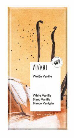 Vivani Weiße Schokolade mit Vanille 80g