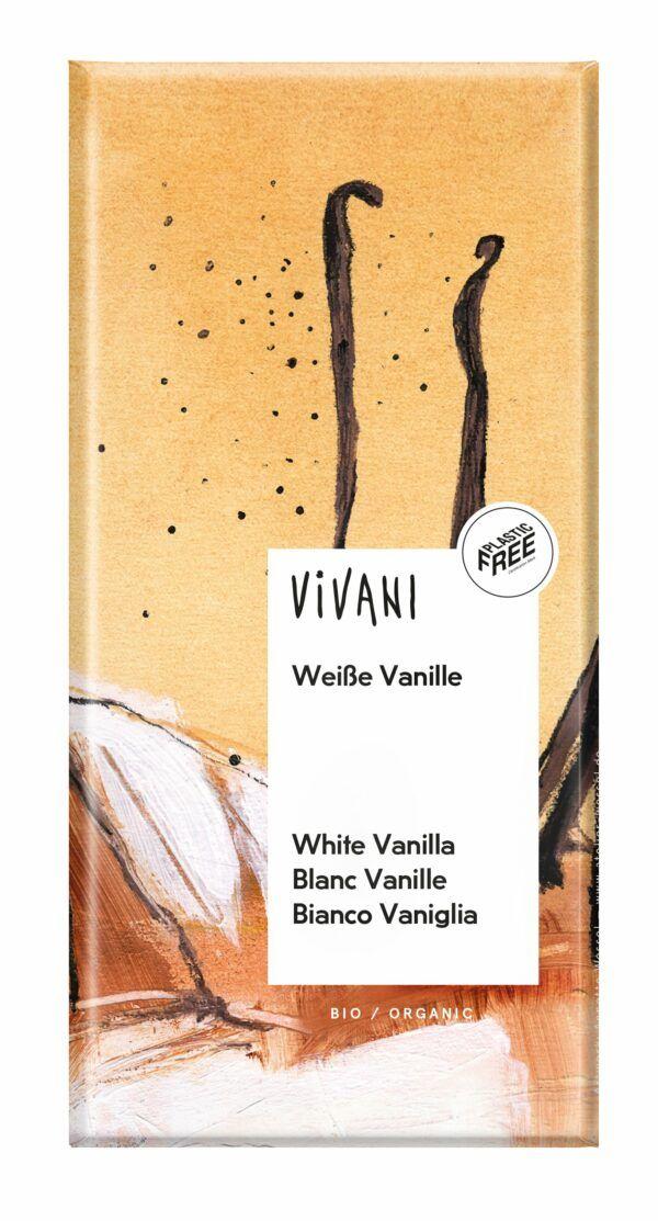 Vivani Weiße Schokolade mit Vanille 10x80g