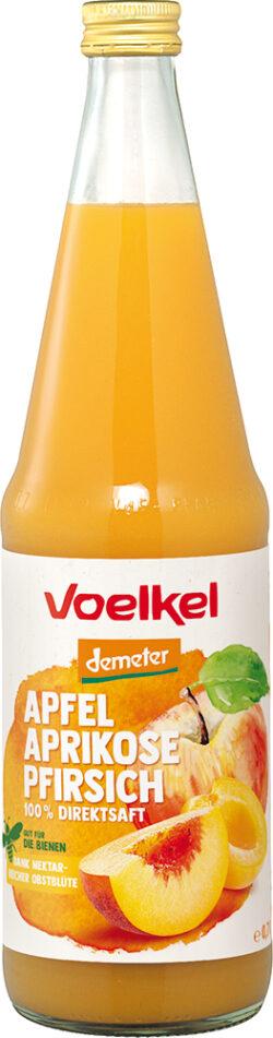 Voelkel Apfel Aprikose Pfirsich 100% Direktsaft 0,7l