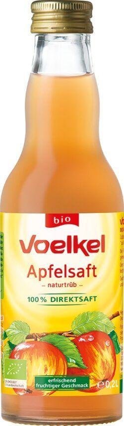 Voelkel Apfelsaft - naturtrüb 100% Direktsaft 12x0,2l