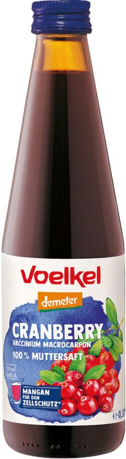 Voelkel Cranberry Vaccinium macrocarpon 100 % Muttersaft 0,33l