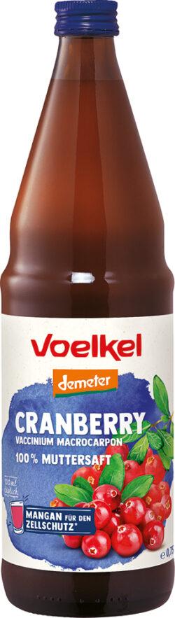 Voelkel Cranberry Vaccinium macrocarpon - 100% Muttersaft 6x0,75l