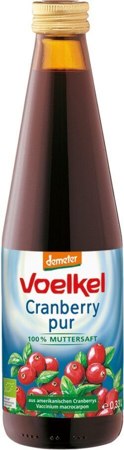 Voelkel Cranberry pur - 100 % Muttersaft 0,33l