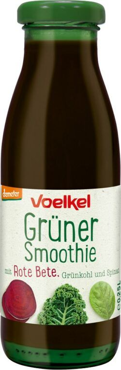 Voelkel Grüner Smoothie mit Rote Bete Grünkohl S pinat 0,25l