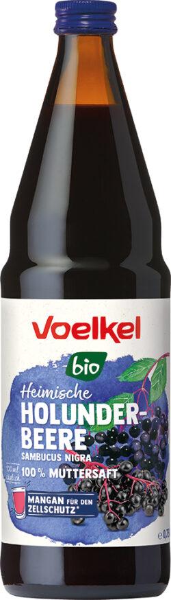 Voelkel Heimische Holunderbeere sambucus nigra 100 % Muttersaft 6x0,75l