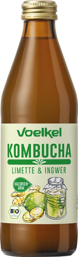 Voelkel Kombucha Limette & Ingwer 10x0,33l