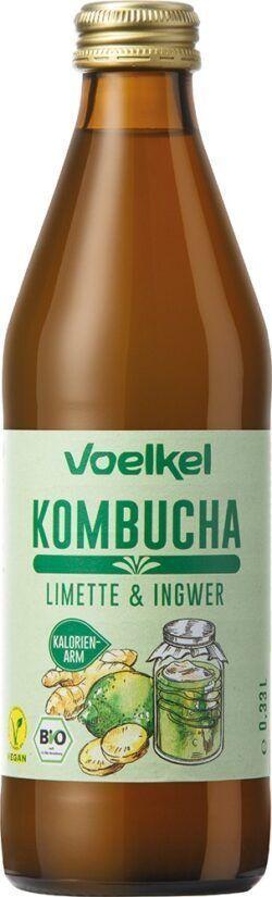 Voelkel Kombucha Limette Ingwer 10x0,33l