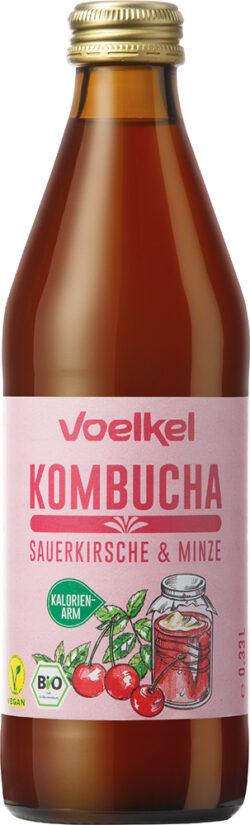 Voelkel Kombucha Sauerkirsche Minze 10x0,33l