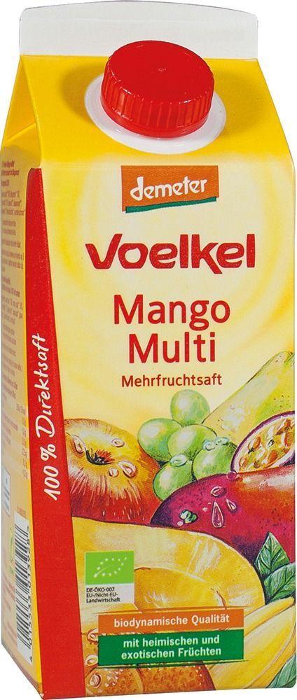 Voelkel Mango Multi Mehrfruchtsaft 6x0,75l