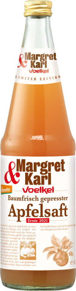 Voelkel Margret & Karl Baumfrisch gepresster demeter Apfelsaft 6x0,7l