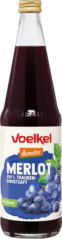 Voelkel Merlot - 100 % Trauben-Direktsaft 6x0,7l