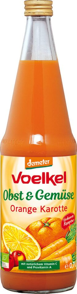 Voelkel Orange Möhre - 100% Direktsaft 0,7l