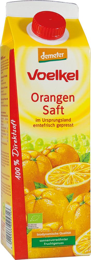 Voelkel Orangensaft - im Ursprungsland erntefrisch gepresst 1l