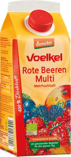 Voelkel Roter Beeren Multi - Mehrfruchtsaft 6x0,75l