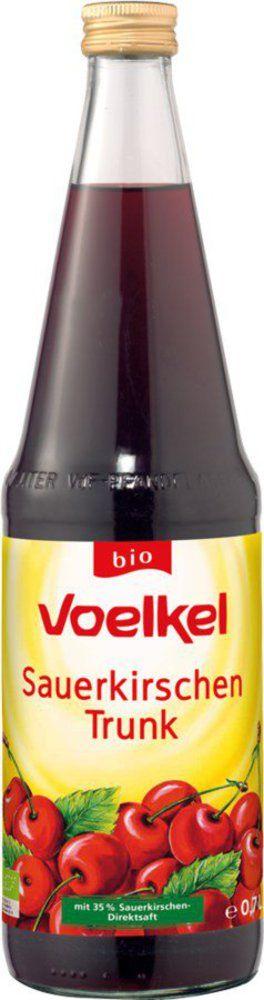 Voelkel Sauerkirschen Trunk mit 35% Sauerkirschen- Direktsaft 6x0,7l